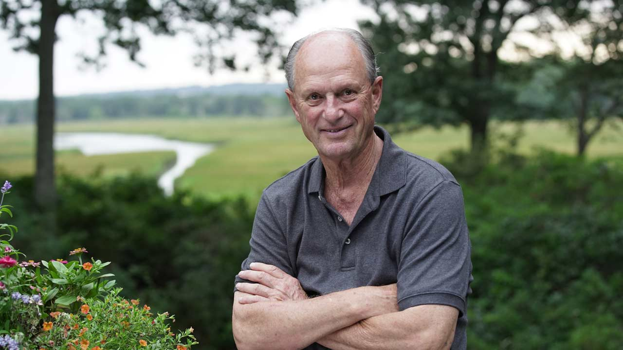 """Dr. Robert Ballard, the man who discovered the Titanic, at his home in Connecticut. (National Geographic / James """"Jim"""" Ball)"""