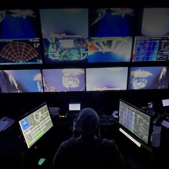 Control van for ROV Jason.